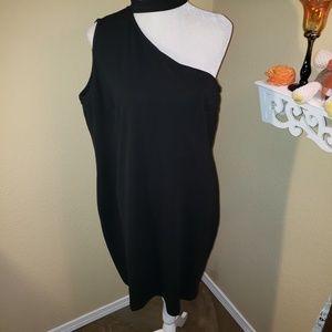 *NWT* City Chic Black One Shoulder Dress